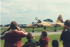 F5e taxiing in after a very polished display. It would be nice to see the team again in the UK