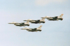 Fenton-Flypast-by-USAFE-F16s-Passing-out-Parade-June-86
