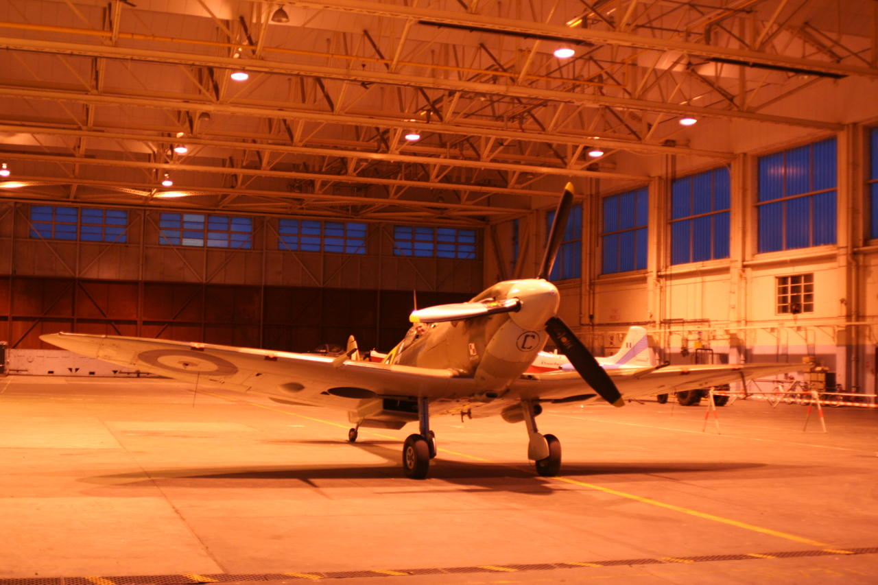 Spitfire BM597 re-visits its old home