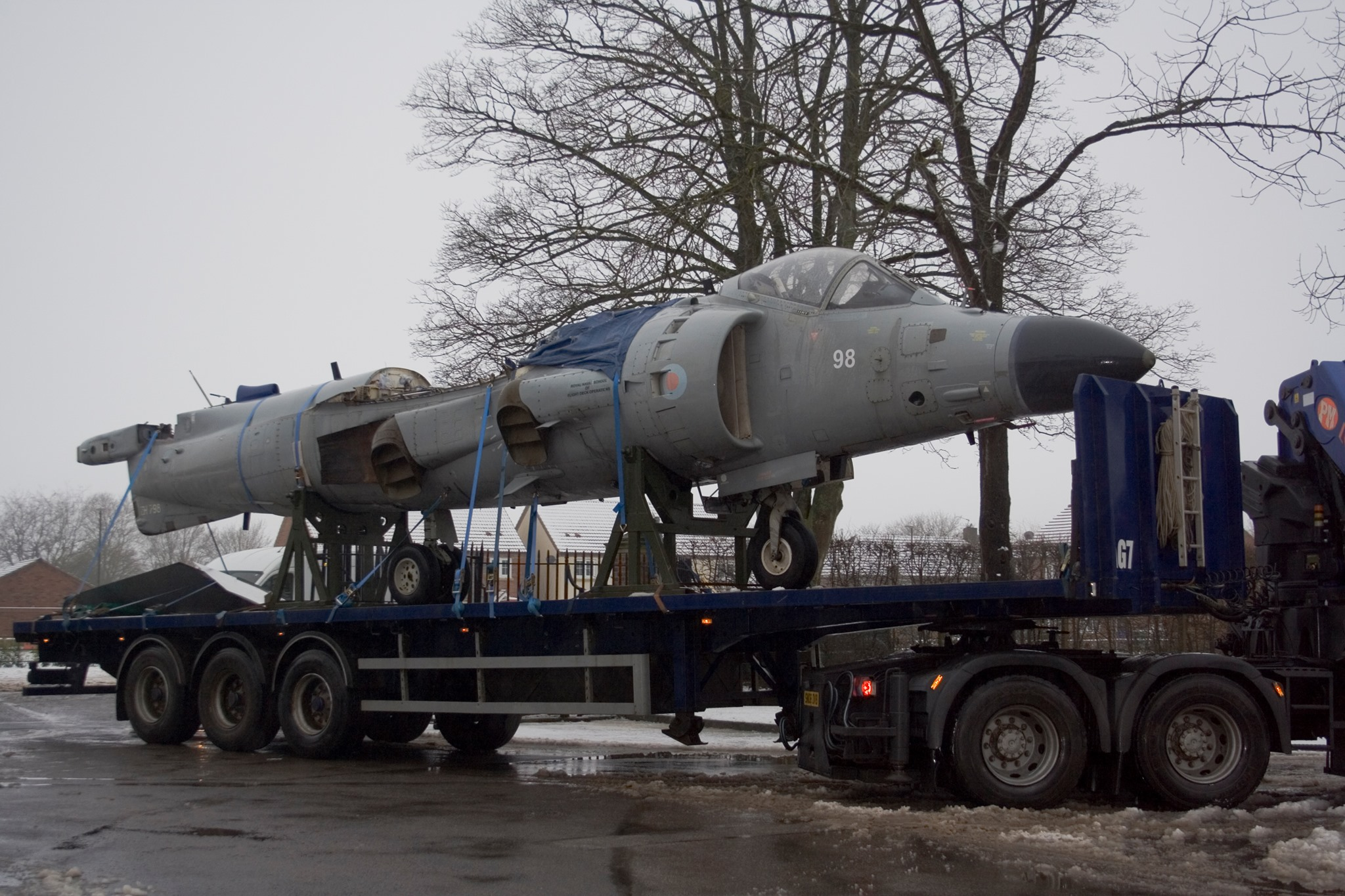 New resident Sea Harrier FA2 arrives